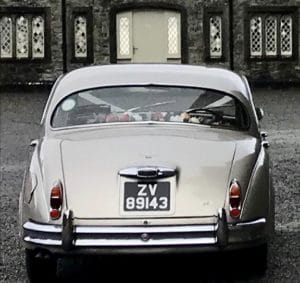 One of our beautiful Jaguar wedding cars