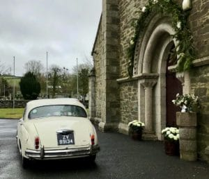 one of our two jaguar wedding cars