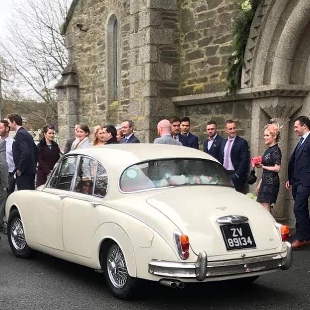 our white Jaguar wedding car