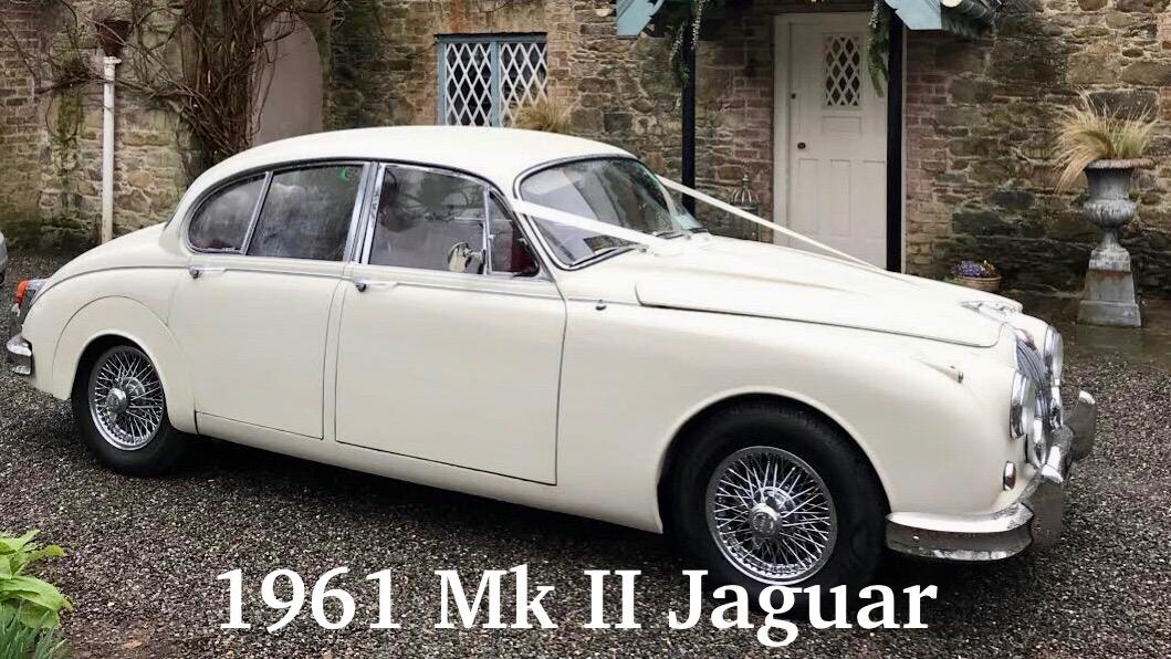 1961 Mk II Jaguar Wedding Car in Old English White