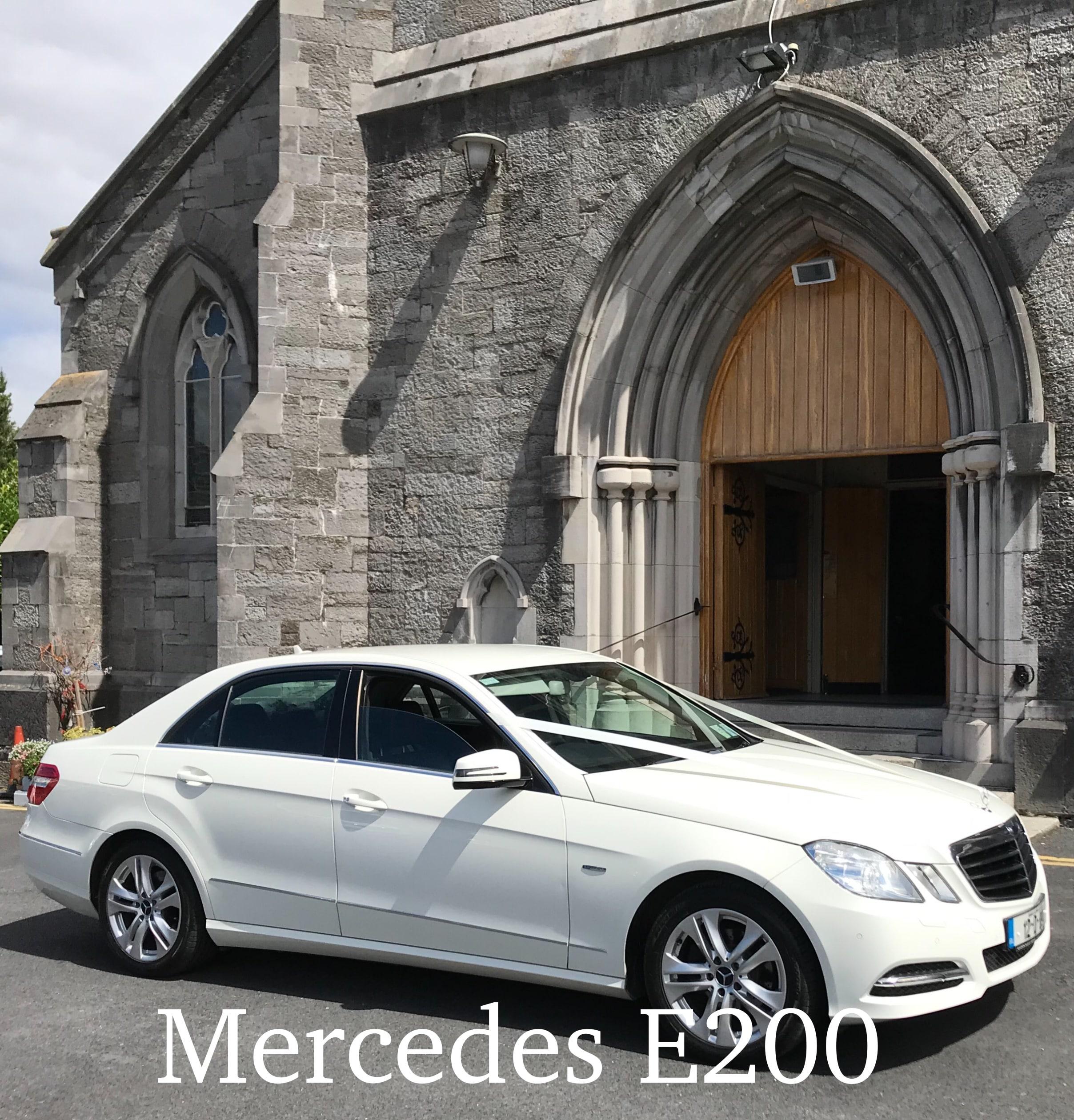 our white Mercedes E200