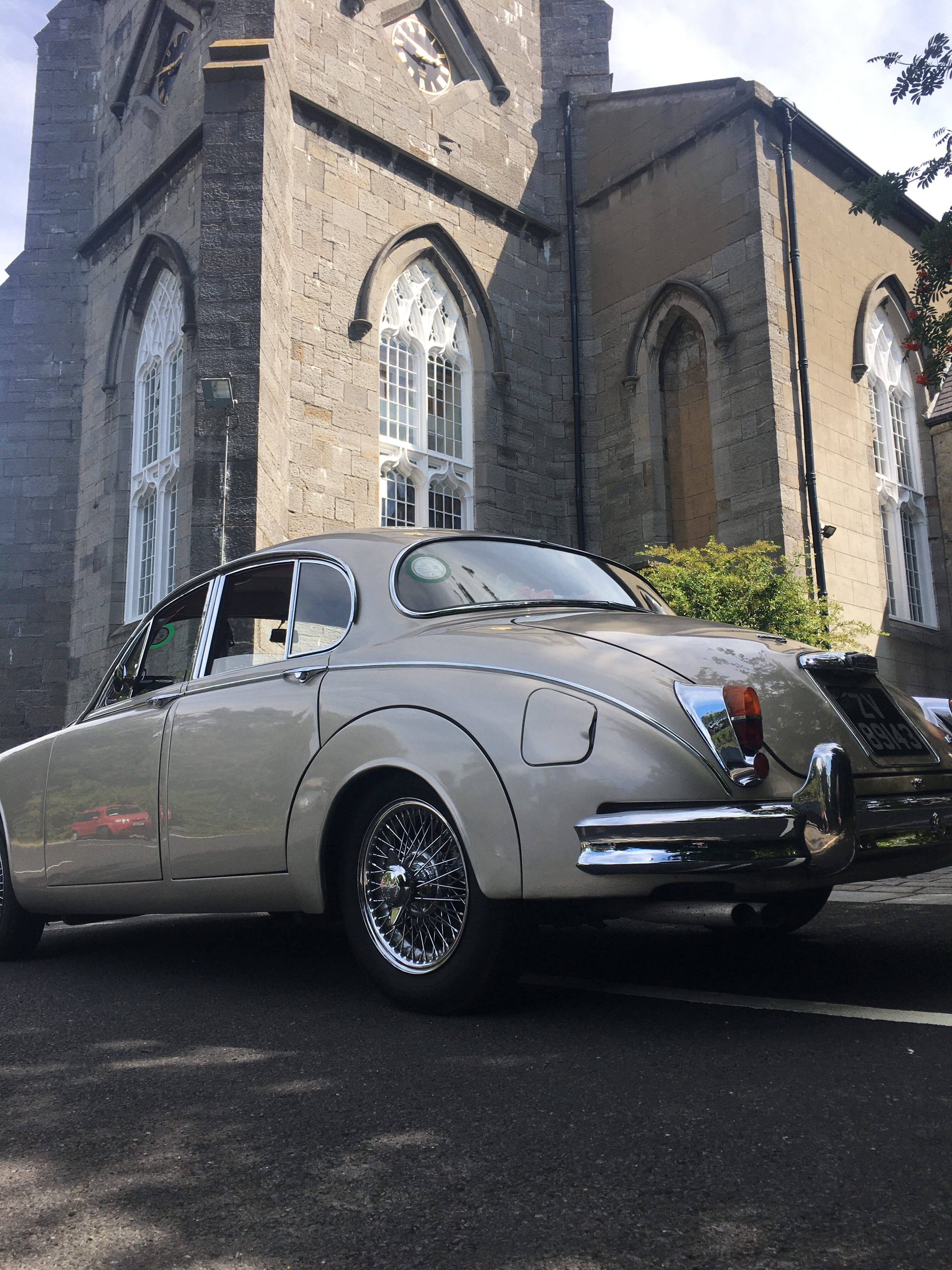 one of our Classic Jaguar wedding cars