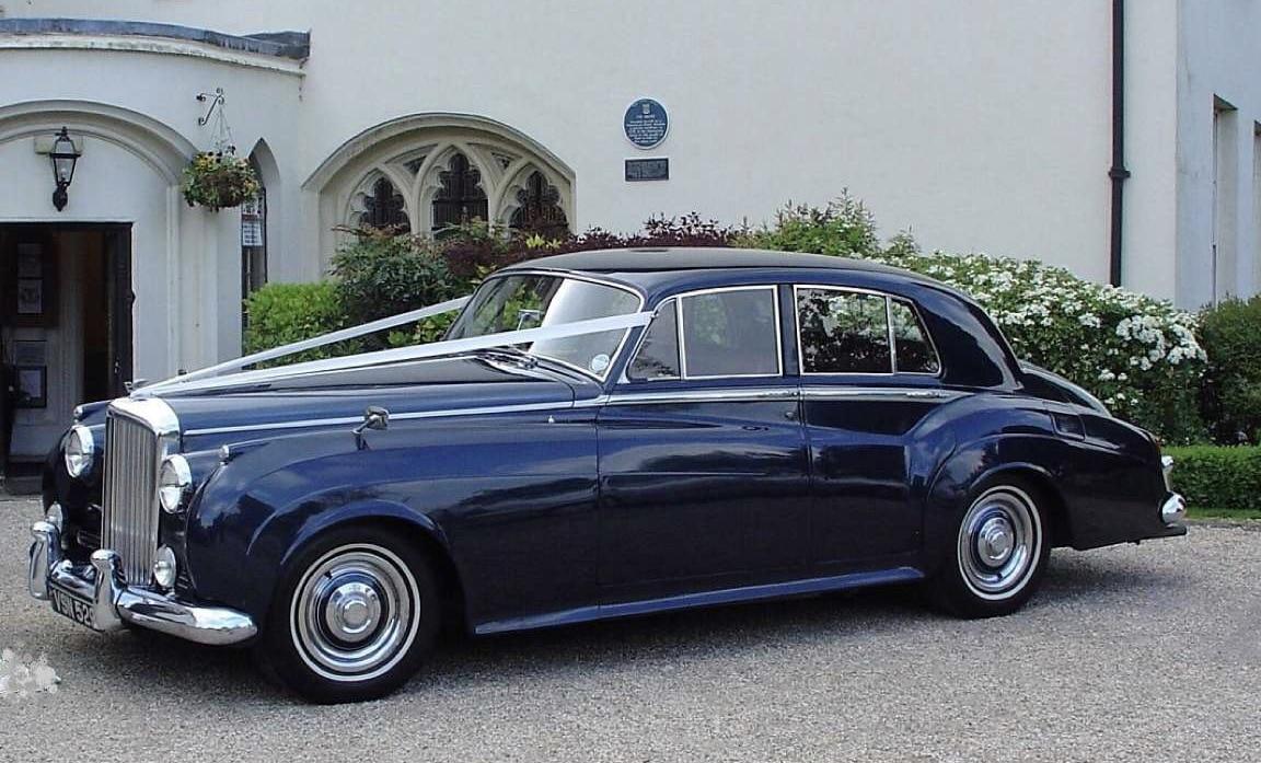 "Our Classic Bentley wedding car in Metallic Royal Blue""width="